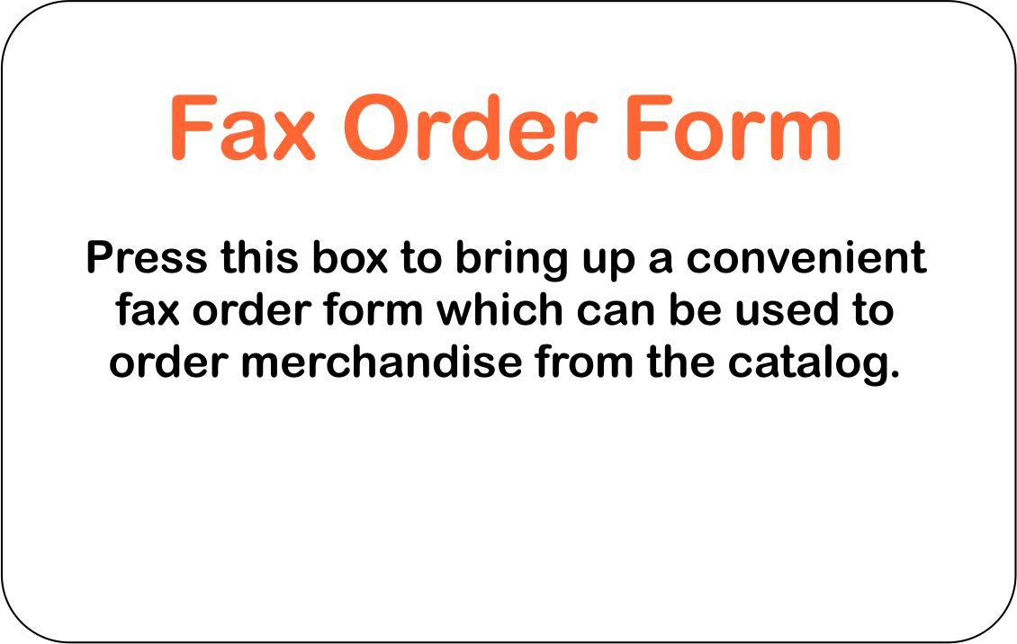 Fax Order Form